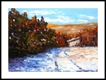 First Snow, Paintings, Realism, Landscape, Oil, By fred wilson