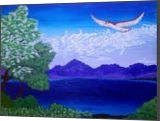 Flight, Paintings, Fine Art, Landscape, Acrylic,Canvas, By Loretta Hon