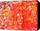 FLORA EXPLOSION, Paintings, Expressionism, People, Acrylic, By Susan Adele Kemp Maldonado