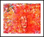 FLORA EXPLOSION, Paintings, Expressionism, People, Acrylic, By Susan Adele Kemp Maldonado