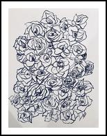 Flower Fall, Drawings / Sketch, Impressionism, Botanical, Ink, By Deb Schmidt