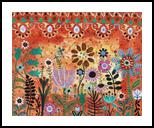 Flower Show, Folk Art, Fine Art, Floral, Acrylic, By KARLA A GERARD