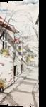 Flowerboxes in Paris, Paintings, Impressionism, Landscape, Watercolor, By Stephen Keller