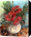 Flowers, Collage,Paintings, Realism, Botanical, Mixed,Painting,Watercolor, By Maria Hristova Koleva