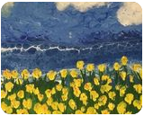 Flowers by the Sea, Paintings, Expressionism,Fine Art,Impressionism, Botanical,Environmental art,Land Art,Landscape,Seascape,Window on the World, Acrylic,Canvas,Painting, By C Jeanine Noegel