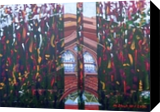 Flowers Grow in Front of St Michael's, Paintings, Abstract, Floral, Acrylic, By Martha Struber