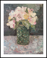 Flowers in a Vase, Paintings, Impressionism, Floral, Acrylic, By Nalee Simonds