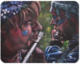 Flutes, Paintings, Fine Art, Figurative, Portrait, Spiritual, Acrylic, Painting, By Gavin Mayhew