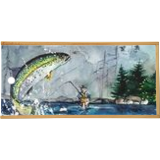Fly Fishing, Paintings, Fine Art, Landscape, Painting, By james Allen lagasse