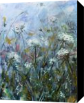 Fog meadow, Paintings, Fine Art, Botanical,Landscape,Nature, Acrylic,Canvas, By Marta Kuźniar
