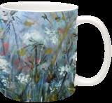 Fog meadow, Paintings, Fine Art, Botanical,Landscape,Nature, Acrylic,Canvas, By Marta Kuźniar
