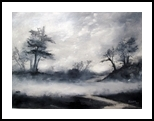 Fog over the Moors, Paintings, Impressionism, Landscape, Oil, By Stephen Keller