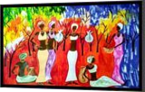 Forest gathering, Paintings, Abstract, Fantasy,Figurative, Acrylic, By Smita Biswas