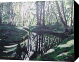 Forest playing with the light, Paintings, Fine Art, Landscape, Canvas,Oil,Painting, By Claudia Luethi alias Abdelghafar