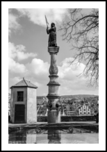 Fountain in Lindenhof, Architecture,Photography,Printm aking, Fine Art,Realism,Symbolism, Architecture,Historical,Performance Art, Photography: Metal Print,Photography: Photographic Print,Photography: Premium Print,Photography: Stretched Canvas Print, By Ira Silence