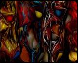 four ghosts, Digital Art / Computer Art, Expressionism, Animals, Digital, By Nebojsa Strbac