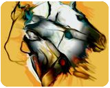 four horses, Digital Art / Computer Art, Expressionism,Modernism,Surrealism, Animals, Digital, By Nebojsa Strbac