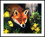 Fox In Nature, Paintings, Fine Art, Animals, Acrylic, By adam santana