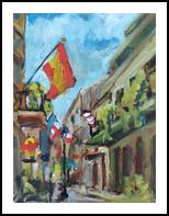 French Quarter, Paintings, Impressionism, Architecture, Acrylic, By Susan Elizabeth Jones