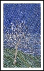 Frosted tree, Fiber Art, Chance, Landscape, Fiber, By Gill Roberts