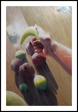 Fruits under arrest (2006) (sold), Paintings, Abstract,Fine Art,Impressionism,Realism,Surrealism, Composition,Figurative,Inspirational,Still Life, Oil, By Corne Akkers