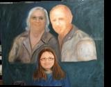 Gable Family Portrait, Paintings, Realism, Portrait, Canvas,Oil, By Mike Chaple