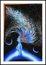 Galaxy, Paintings, Fine Art, Fantasy, Acrylic, By Anita Szendrei