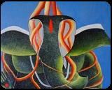 Ganesha, Paintings, Abstract, , Acrylic, By Rakesh Bedia