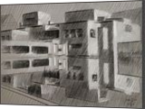 Gemeentemuseum 05 (2014), Drawings / Sketch, Abstract,Cubism,Fine Art,Impressionism,Realism, Architecture,Cityscape,Composition,Figurative,Inspirational, Pastel, By Corne Akkers