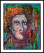 GINGER, Paintings, Fine Art, Fantasy,People,Portrait, Mixed, By Susan Adele Kemp Maldonado