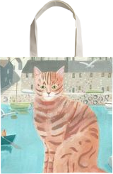 Ginger by the Sea, Paintings, Fine Art,Impressionism, Animals, Acrylic, By Mary Stubberfield