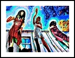 Girls 66th road, Paintings, Expressionism, Figurative, Acrylic,Canvas, By Victor Ovsyannikov