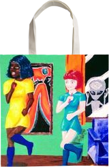Girls just wanna have fun!, Animation,Illustration, Impressionism, Cartoon, Acrylic,Canvas, By Loretta Hon