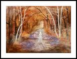 Goddess of the forest, Paintings, Fine Art, Fantasy,Landscape,Spiritual, Acrylic, By Marta Kuźniar