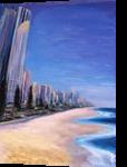 Gold Coast, Australia, Paintings, Impressionism,Surrealism, Cityscape,Landscape,Seascape, Canvas,Oil, By Larysa Anatolievna Denysova