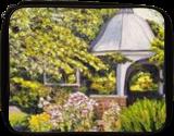 Grandmother's Garden Flowers, Paintings, Impressionism, Landscape, Oil, By Richard John Nowak
