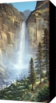 Great Falls, Paintings, Realism, Landscape, Oil,Painting, By Frank S. Wilson