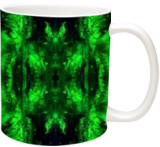 Green Forest Mandala, Graphic,Printmaking, Abstract,Futurism,Hallucinogens, 3-D,Environmental art,Spiritual, Acrylic,Digital, By Hendrik Reuss