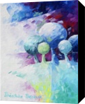 Green landscape, Paintings, Abstract, Figurative,Floral,Nature, Canvas,Oil, By Beatrice BEDEUR