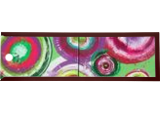 Green rose circles A103 Abstract Painting vertical wall art Acrylic Original Contemporary Art for Lounge, Office or above sofa by artist Ksavera, Decorative Arts,Multipanel Art,Paintings, Abstract,Commercial Design,Expressionism,Modernism, Composition,Inspirational,Spiritual, Acrylic,Canvas, By Ksavera Art