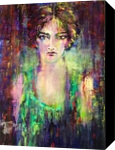 Green With Envy, Paintings, Expressionism,Modernism, Avant-Garde,Figurative, Acrylic, By Kathy Katz Linden