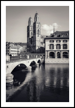 Grossmünster Zurich, Architecture,Decorative Arts,Digital Art / Computer Art,Paper Art,Photography,Poster,Printmak ing, Fine Art,Performance Art,Photorealism,Realism, Architecture,Cityscape,Conceptual,Memorial,Religious, Photography: Metal Print,Photography: Photographic Print,Photography: Premium Print,Photography: Stretched Canvas Print, By Ira Silence