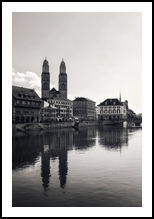 Grossmünster Zurich, Architecture,Photography, Fine Art,Performance Art,Photorealism, Architecture,Cityscape,Decorative,Performance Art, Photography: Metal Print,Photography: Photographic Print,Photography: Premium Print,Photography: Stretched Canvas Print, By Ira Silence