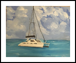 Gulf View, Paintings, Fine Art, Seascape, Acrylic, By Geraldine Junior