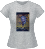 H.P.Lovecraft. Abdul Alhazred with Necronomicon(acrylic on cardboard), Illustration, Fine Art, Fantasy, Acrylic, By Victoria Trok