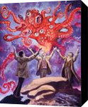 H.P.Lovecraft. The Dunwich Horror(acrylic on paper), Illustration, Fine Art, Fantasy, Acrylic, By Victoria Trok