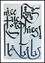 Habibi, Calligraphy, Street Art, Analytical art, Ink, By Duha Younes