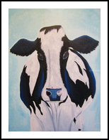 Hannah the Holstein, Paintings, Abstract, Animals, Acrylic, By melanie ann lutes