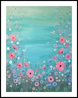 Happiness, Paintings, Fine Art,Impressionism, Floral, Acrylic, By Mary Stubberfield