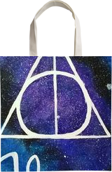Harry Potter, Calligraphy,Decorative Arts, Symbolism, Celestial / Space, Acrylic,Canvas, By Sukrriti Aggarwal